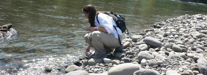 Measuring hyporheic flow in the Clackamas River